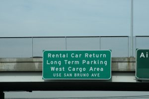 """Route 101 Silicon Valley /SFO - Rental Car return do not use Airport Exit"" image courtesy Flickr user ShashiBellamkonda, CC-BY-2.0."