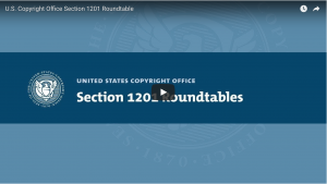 Still of YouTube Video of Section 1201 Roundtables